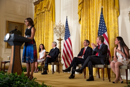 Michelle Obama Mayors Challege - photo cred White House.gov